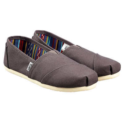 NEW - Authentic TOMS Womens CLASSIC Ash Gray Canvas flats shoes - PICK SIZE