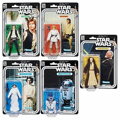 Star Wars Black Series 40th Anniversary Action Figures Wave 1 Set of 5