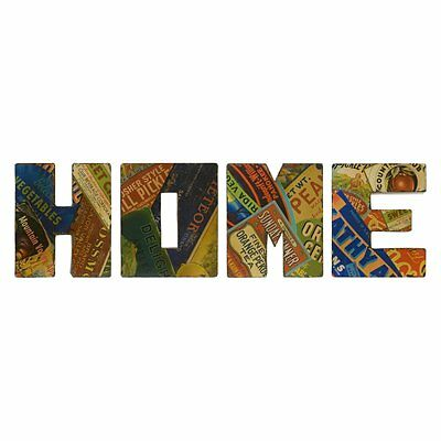 Vintage Home Sign Wall Decor - Set of 4 - 17W x 20H in- Multi