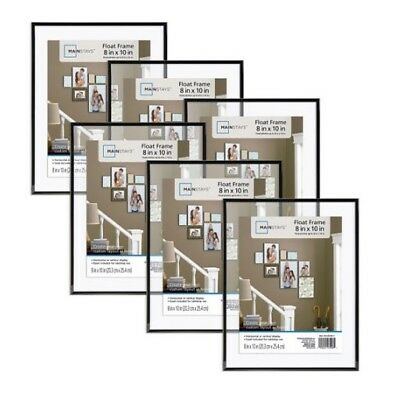 Mainstays 8 x 10 Format Picture Frame w Glass Set of 6 Decor Home Black NEW
