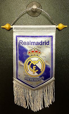 Real Madrid Mini Flag Window Banner With Suction Cup
