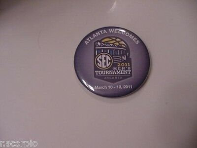 2011 SEC Mens Basketball Tournament Pinback Button-Kentucky Wildcats Champions