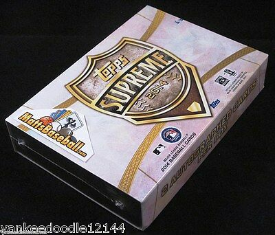 2014 TOPPS SUPREME BASEBALL FACTORY SEALED HOBBY BOX PACK 2 AUTOGRAPHS
