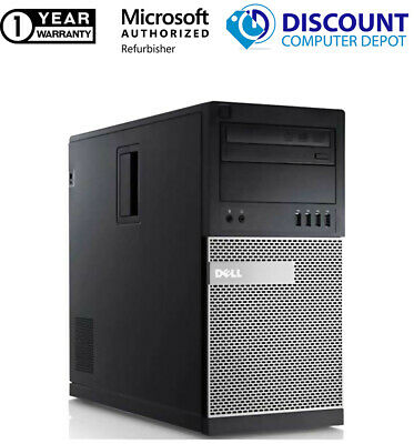 CLEARANCE Fast Dell Desktop Computer PC Core 2 Duo WINDOWS 10 - LCD - KB - MS