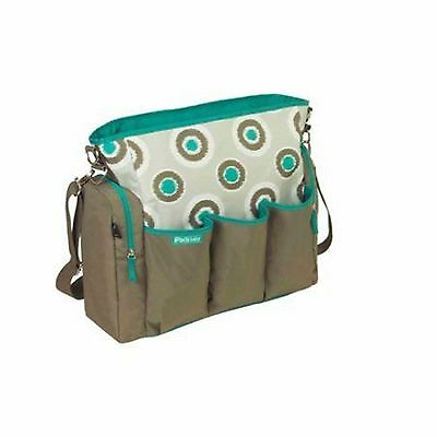 NWT IPACK BABY IKAT DOT TURQUOISE DIAPER BAG BRAND NEW WITH TAGS