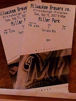 2milwaukee brewers vs Pittsburgh on Tuesday August 15