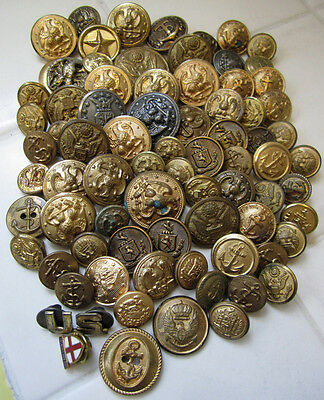 Vintage - Antique Millitary Uniform Buttons Lot of 77WaterburySuperior Quality