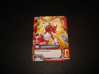 BANDAI DIGIMON CARD S1-002 SHOUTMON-GREAT CONDITION-FUSION