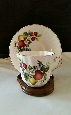 Vintage Royal Grafton Cup - Saucer-Discontinued Fruit Pattern 1577 EUC