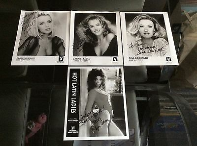 Playboy Signed Photos Carrie Westcott Carrie Yazel Tina Bockrath - Maria Checa
