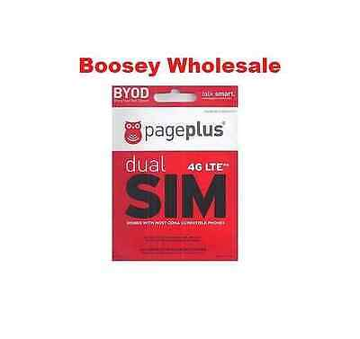 Page Plus 4G LTE DUAL SIM Card - Standard  Micro - for Verizon 4G LTE phones