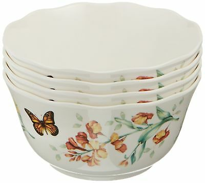 Lenox Butterfly Meadow Melamine All Purpose Bowls Set of 4 White