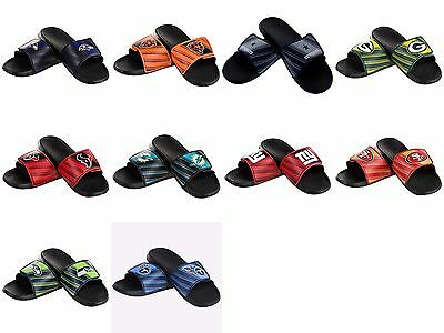 NFL Mens Legacy Shower Sport Slide Flip Flop Sandals Pick Your Team