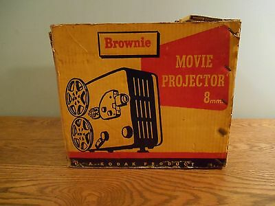 Vintage Movie Projector 8mm Model 1 with Box Works