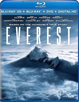 EVEREST 2015 3D - 2D Blu-Ray -DVD BRAND NEW Free Shipping