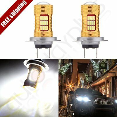 2x 2017 High Power H7 6000K Cree LED 54 SMD Light HID Xenon Bulb 60W Ultra
