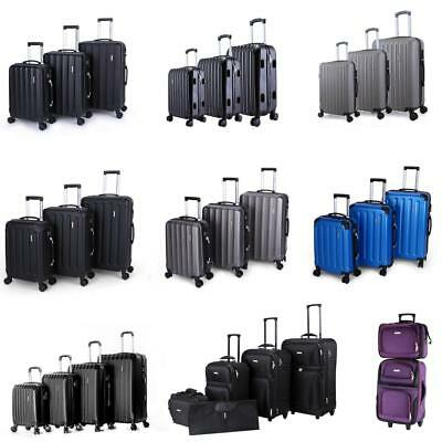 2345Pcs Luggage Set Travel Bag Trolley Spinner Suitcase WLock Rolling Wheels