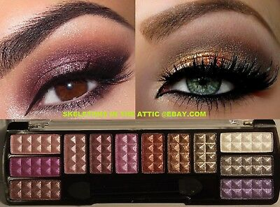 NEW Shimmer Matte Eye Shadow Makeup Cosmetic 12 Color Eyeshadow Palette Brush