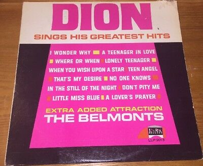 Dion Sings His Greatest Hits LP Vinyl Record Album Original Laurie 2013
