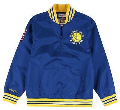Golden State Warriors Mitchell - Ness NBA Mens HWC Rebound Pullover Jacket