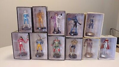 8 EAGLEMOSS DC mini statues and 3 Chess In boxes Lot 4 LK