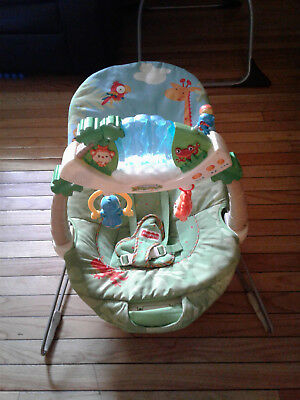 Baby Bouncer Bouncy Seat Infant Newborn Babies Toy Bar Bouncing Vibration Sooth