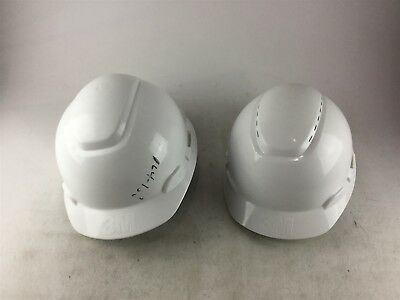 Mixed Lot of 2 3M White Vented Hard Hat with Ratchet Adjustment
