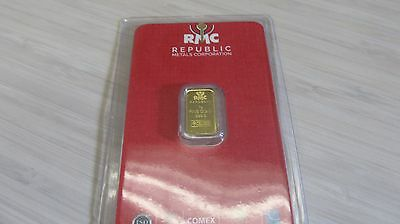1 gram Gold Bar - RMC  999-9 Fine in Assay -Awesome bar