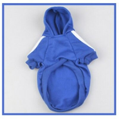 Blue S Warm Winter Casual Unisex Pet Dog Clothes Hoodie Coat Jacket Clothing