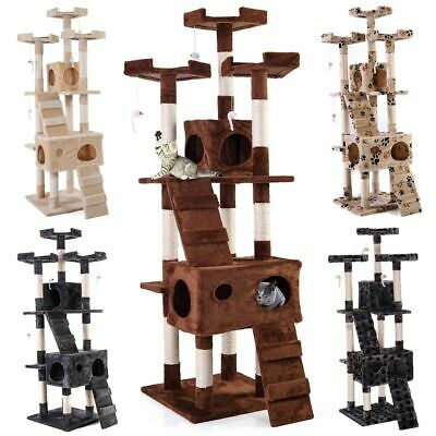 67 Cat Tree Condo Tower Pet Kitty Play Climbing Furniture w Scratching Post