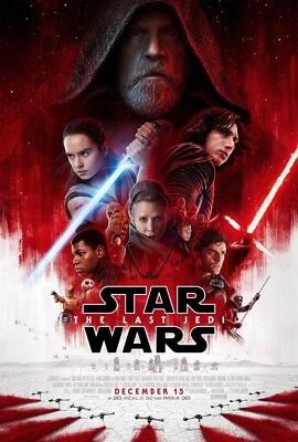 1 STAR WARS THE LAST JEDI Final New REPRODUCTION Movie Poster 18x25 EPISODE VIII