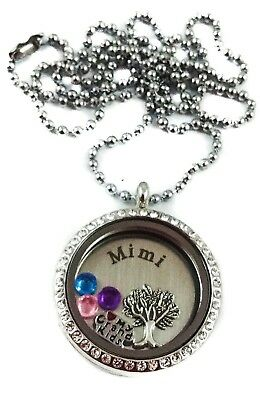 Mothers Day Mimi I Love My Grandkids living memory necklace