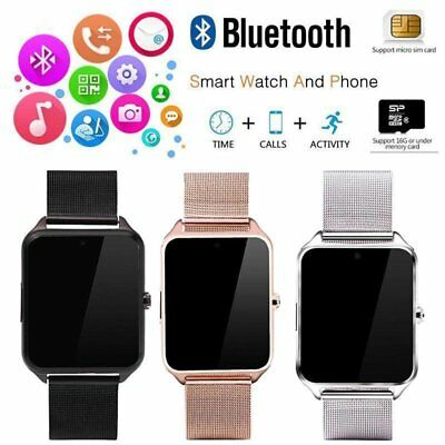 Bluetooth Smart Watch GSM SIM Phone Mate Z60 Stainless Steel For IOS Android