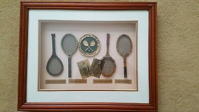 The Championships Wimbledon Tennis Racket Shadow Box
