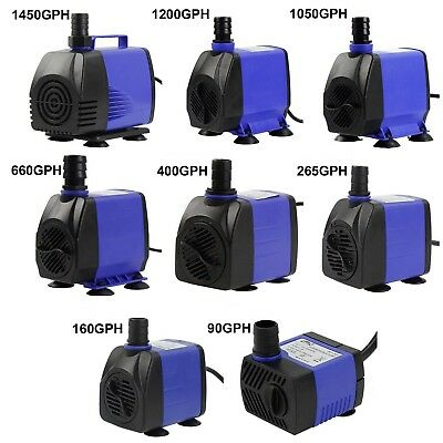 90-1450 GPH Submersible Water Pump Aquarium Pond Powerhead Hydroponics Fountain