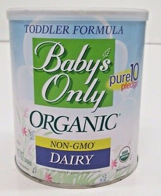 6 Cans of Babys Only Organic Non-GMO Dairy Toddler Formula - 12-7 oz ea