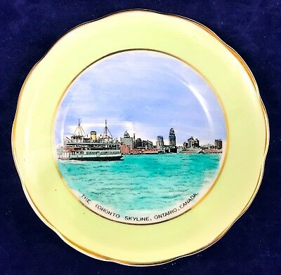 Royal Grafton China Pin Dish Toronto Skyline Ontario Canada Harbor