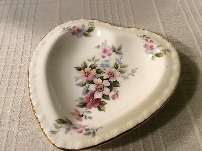 ROYAL GRAFTON Pin Dish Fine Bone China Summer Melody Design 4 12 inches Heart