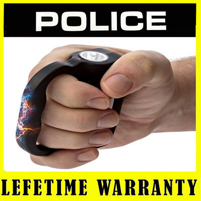 POLICE 519 - 999MV Rechargeable Police Stun Gun With LED Flashlight - Case