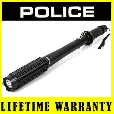 STUN GUN POLICE 1118 65 BV Rechargeable Metal Heavy Duty With LED Flashlight