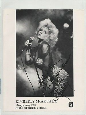 Kimberly McArthur signed Playboy Playmate Girls of R-R Miss January 1982