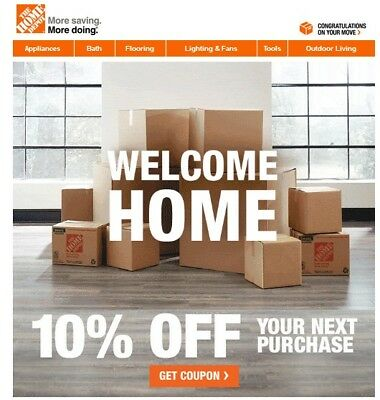 One 1x Home Depot 10 Off-Coupon In-Store Only -Save upto 200