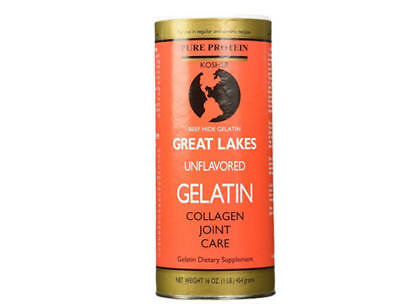 Great Lakes Unflavored Beef Gelatin Kosher 16 Ounce Can