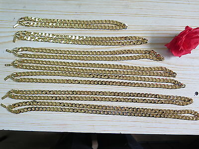 POLYMER PROTECTED 20 36 10MM 18K YELLOW GOLD PLATED CURB CHAIN NECKLACE GIFT