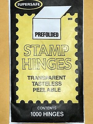 SUPERSAFE STAMP HINGES -1000 PER PACK  WE HELP OUR VETERANS