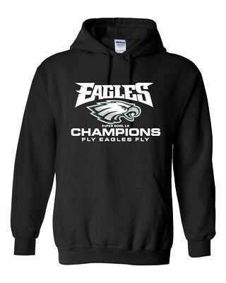 SUPER BOWL LII 52 Champions Hoodie Sweatshirt Philadelphia Eagles Champs