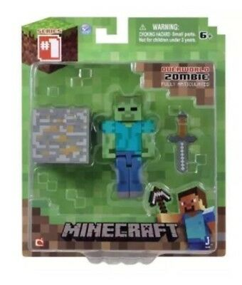 2015 Jazwares Minecraft Overworld ZOMBIE 3 Inch Action Figure