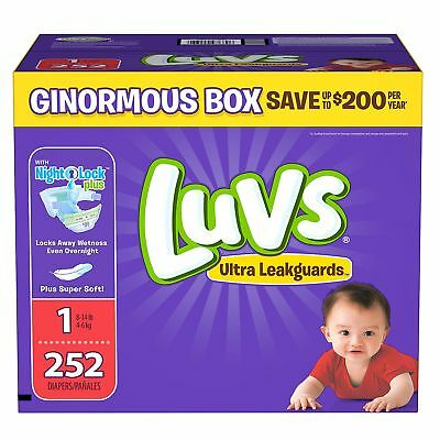 Luvs Ultra Leakguards Baby Diapers Size 1 2 3 4 5 6- Fast Free Shipping