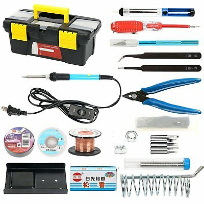 Soldering Iron Kit for Electronics 19-in-1 60W Adjustable Temperature US Ship