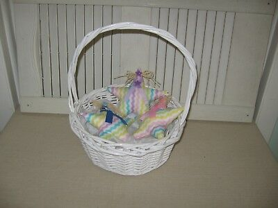 Handmade Primitive Fabric Bowl Fillers Easter Style Stars Set of 3